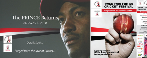 Twenty20 For 50 Cricket Festival Advertising Campaign