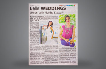 Belle WEDDINGS scores with MARTHA STEWART