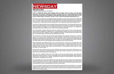 Hats off to 'Play' - Newsday Article - June 28 2014